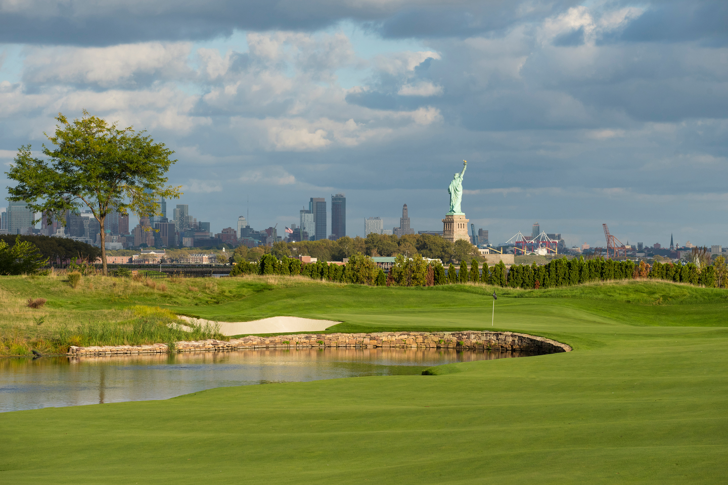 At the Liberty National Golf Club in Jersey City, N.J., the final round of The Northern Trust tournament was postponed from Sunday to Monday, due to the heavy rain.