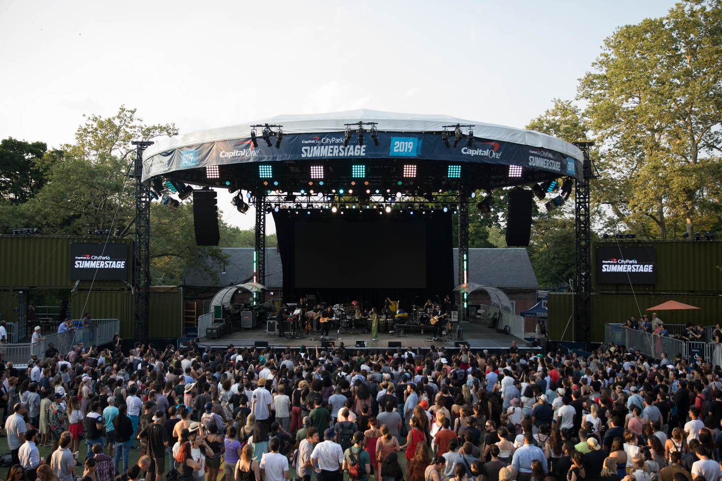 Since SummerStage is an annual outdoor festival (besides last year's event, which was virtual), organizers are used to producing rain or shine.